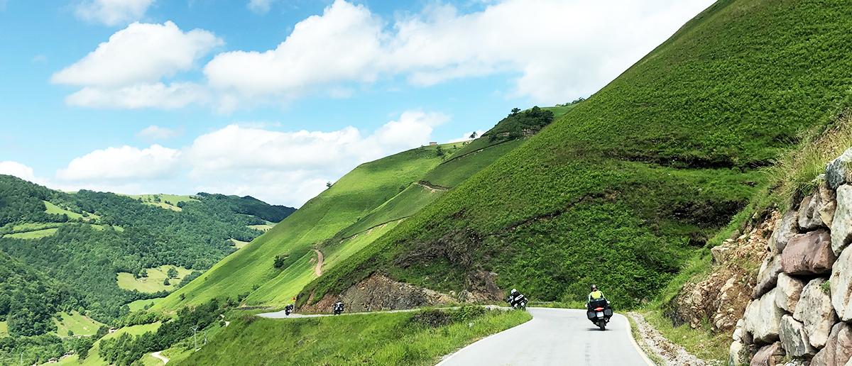 Ruta en moto Europa Norte España Verde