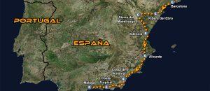 Tour organizado en moto MotoGP Valencia Cheste mapa