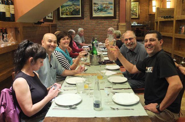 Llegada a Málaga, Briefing informativo y cena de bienvenida