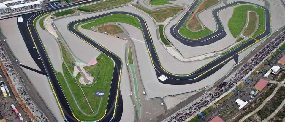 Foto aérea del moto GP de Valencia
