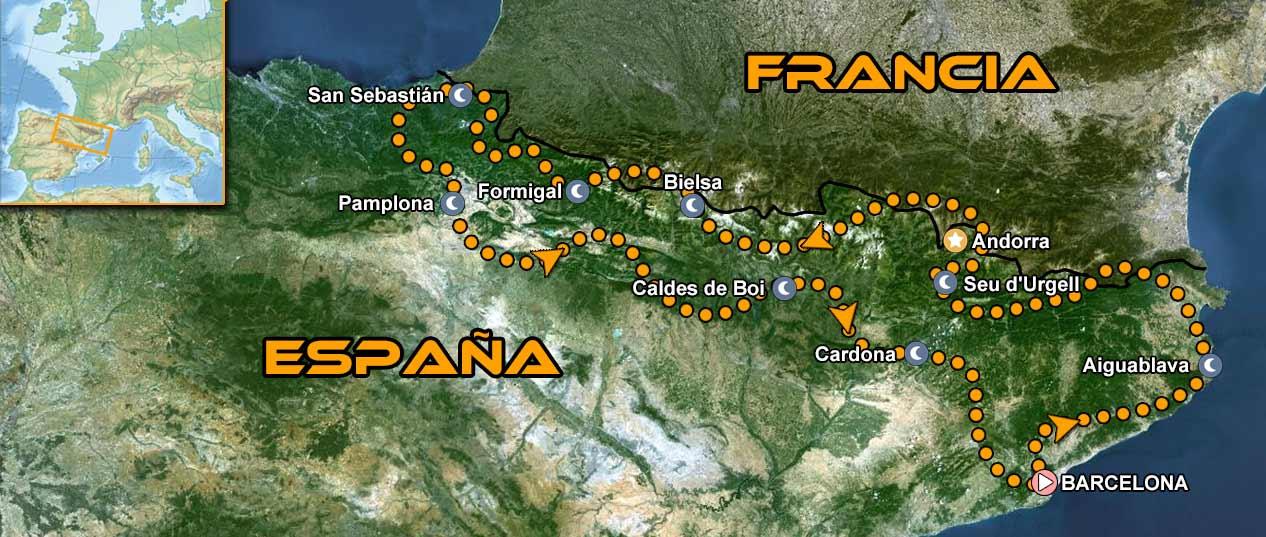 Ruta en moto por España Pirineos Salvaje