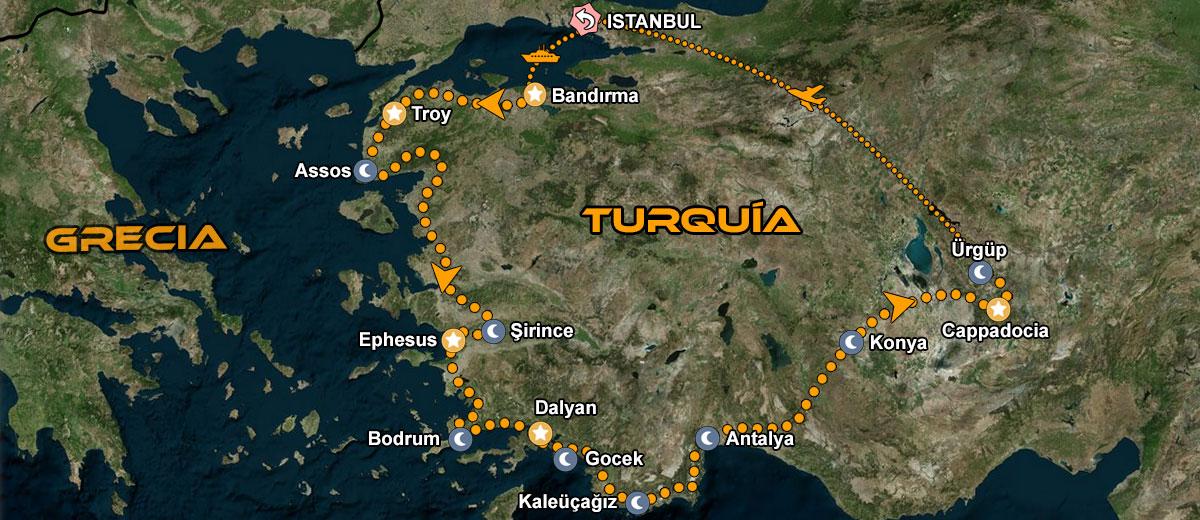 Mapa-Ruta-organizada-Turquía-en-moto-IMTBIKE