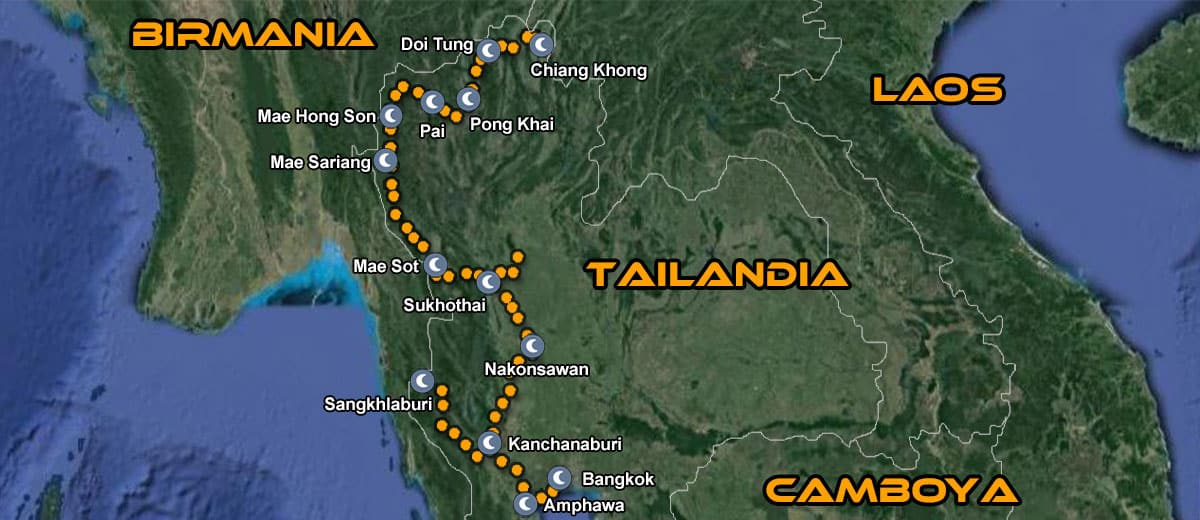 Ruta en moto por tailandia con imtbike